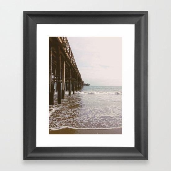 Ventura Pier Framed Art Print