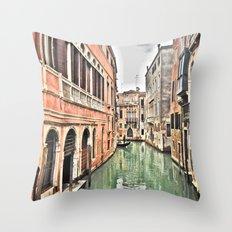 venezia_canale Throw Pillow