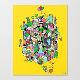 Isometric Playground Canvas Print