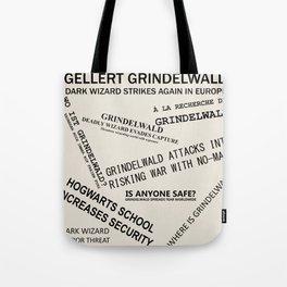 1926 Wizard Newspaper Headlines - Grindelwald Tote Bag