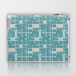 Intersecting Lines in Teal, Tan and Sea Foam Laptop & iPad Skin
