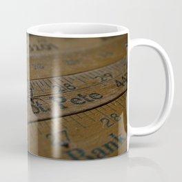 Ruler Desk Coffee Mug