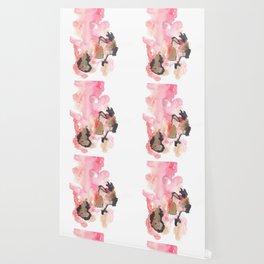 Watercolor Pink Black Flow | [dec-connect] 19. leaks Wallpaper