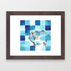 Origami Pig 2 Framed Art Print