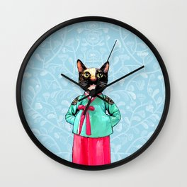 Jade and Pearl Wall Clock