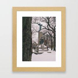 Angel in King's Square Framed Art Print