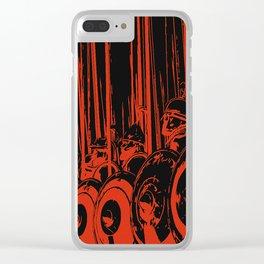 Macedonian Phalanx Clear iPhone Case