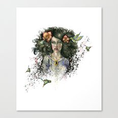 Hummingbird Hair Canvas Print