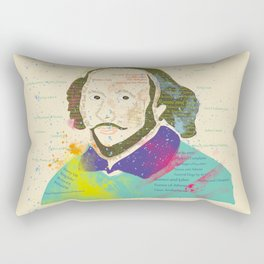 Portrait of William Shakespeare-Hand drawn Rectangular Pillow