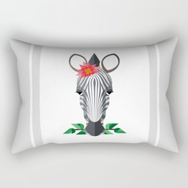 Zebra Geo-Animal Friend Rectangular Pillow