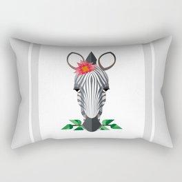 Zebra Geo-Animal Friend Rectangular Pillow