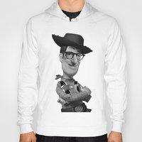 woody allen Hoodies featuring Woody by Eric Siv