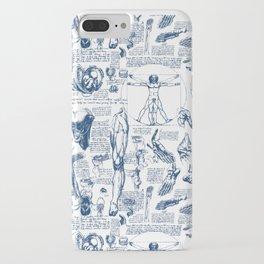 Da Vinci's Anatomy Sketchbook // Dark Blue iPhone Case