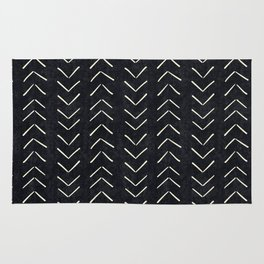 Mudcloth Arrows In Black And White Rug