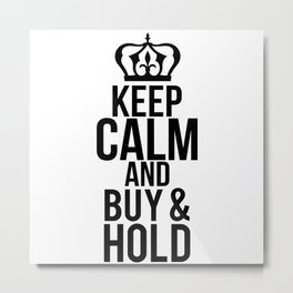 Share Buy And Hold Metal Print