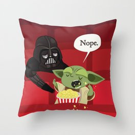May I have some popcorn? Nope. Throw Pillow