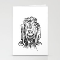 goat Stationery Cards featuring Goat by Sarah Mosser