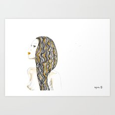 yellow rasta Art Print