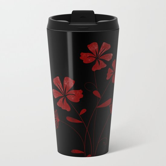 Flower..5 Metal Travel Mug