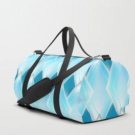 Glass-effect blue pattern Duffle Bag