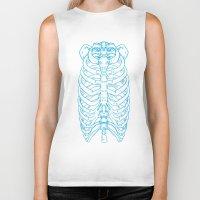 skeleton Biker Tanks featuring Skeleton by Robbie Drew Dixon