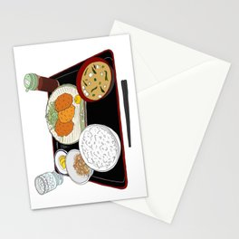 Japanese Tonkatsu Bento Stationery Cards