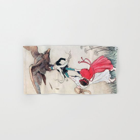 Compassionate Children Illustration Hand & Bath Towel