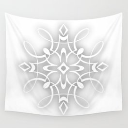 White Decorative Flower Wall Tapestry