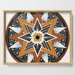 Compass Rose Mandala Serving Tray