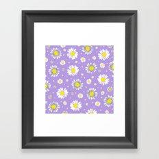 Daisies - Purple Framed Art Print