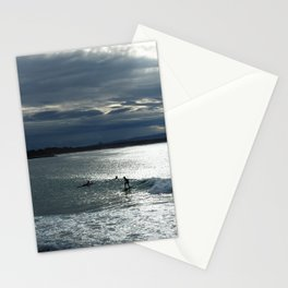 Noosa Dusk Surfers - Beach Photography Stationery Cards