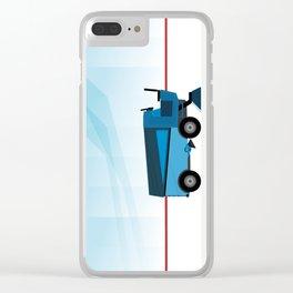 The blue Zamboni Clear iPhone Case