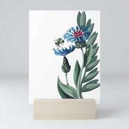 Thistle bee the day Mini Art Print