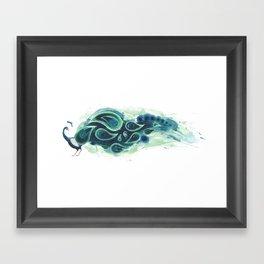 Horizontal Peacock Framed Art Print