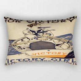 Vintage poster - Victory Girls Rectangular Pillow
