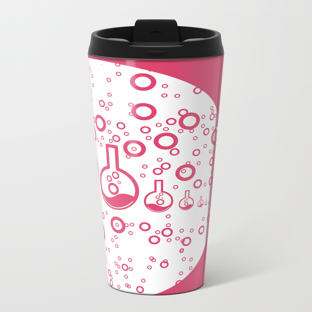 Science Big Or Small Metal Travel Mug by Jwdesignscumbria MTM9006628