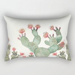 Prickly Pear Cactus Succulent Rectangular Pillow