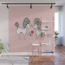 Poodle Love Wall Mural