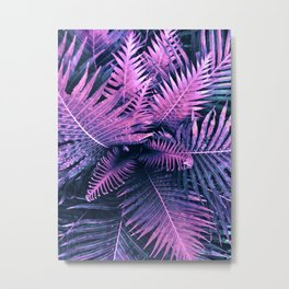 Fucsia Ferns Metal Print