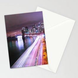 City Lights Highway Stationery Cards