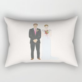 This $75 Custom Portrait Is the Most Thoughtful Wedding Gift Ever Rectangular Pillow