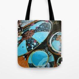 Majolica and Hydrangea Tote Bag