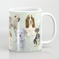 dogs Mugs featuring Dogs by Augustwren
