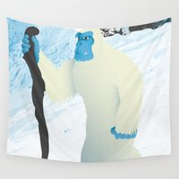 yeti Wall Tapestries featuring Yeti by twelve:45