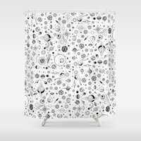 planets Shower Curtains featuring Planets by Smith and Ford