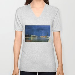 Snow Showers Over Moscow Unisex V-Neck