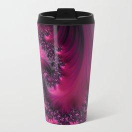 Twisting Dark Raspberry Ripple Travel Mug