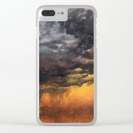 Watercolor Sky No 6 - dramatic storm clouds Clear iPhone Case