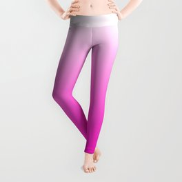 White and Pink Gradient 043 Leggings
