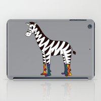 socks iPad Cases featuring Zebra Socks by Kendra Blinde